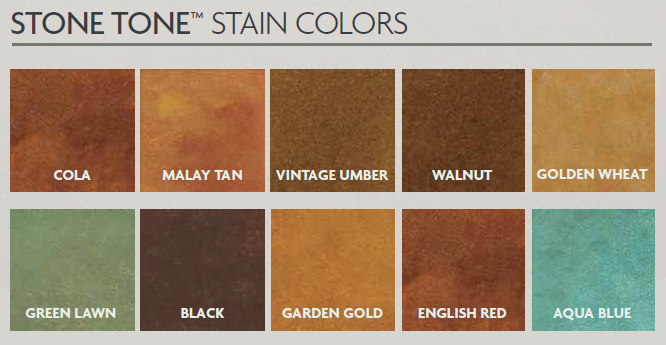 Stone Tone Stain Colors