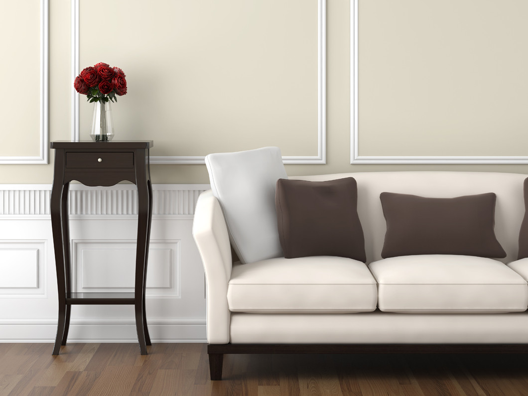 Beige and white interior
